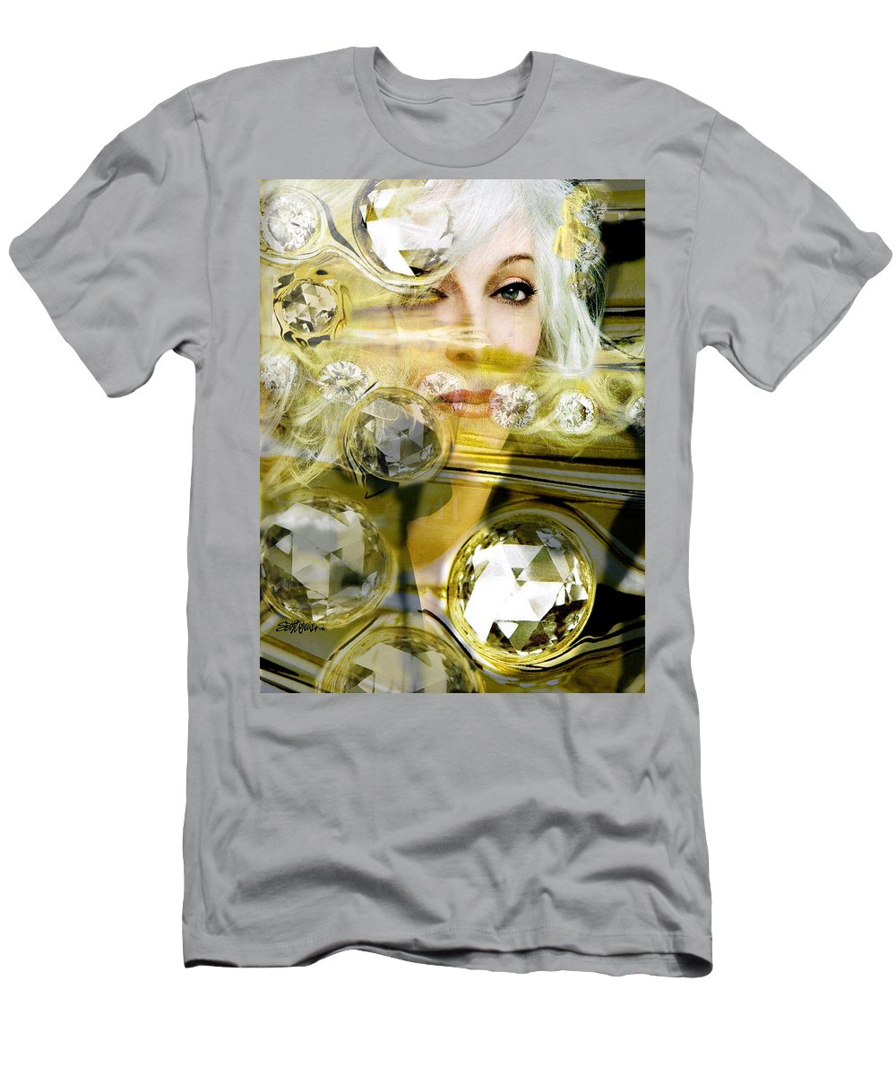 Women Men's T-Shirt (Athletic Fit) featuring the digital art Darling Diamonds by Seth Weaver