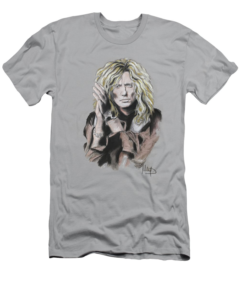 David Coverdale Men's T-Shirt (Athletic Fit) featuring the pastel David Coverdale by Melanie D