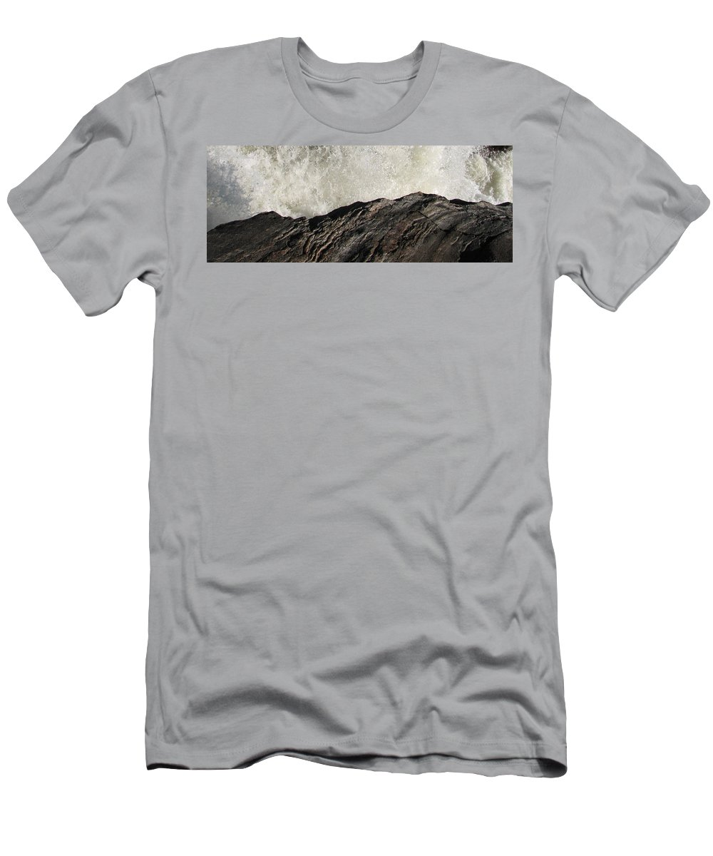 Abstract Men's T-Shirt (Athletic Fit) featuring the photograph Day And Night by Kelly Mezzapelle