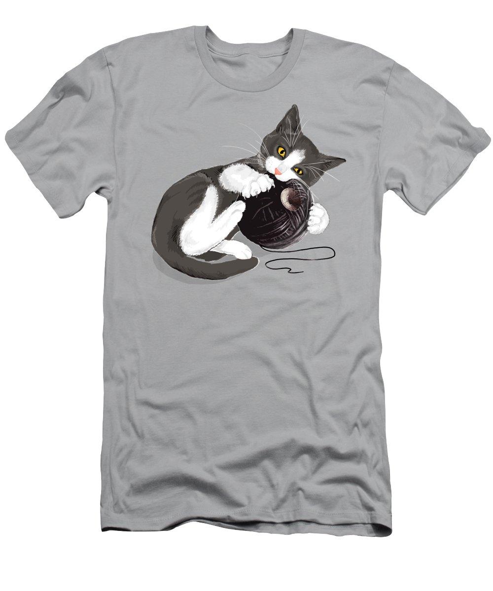 Kitten Digital Art T-Shirts