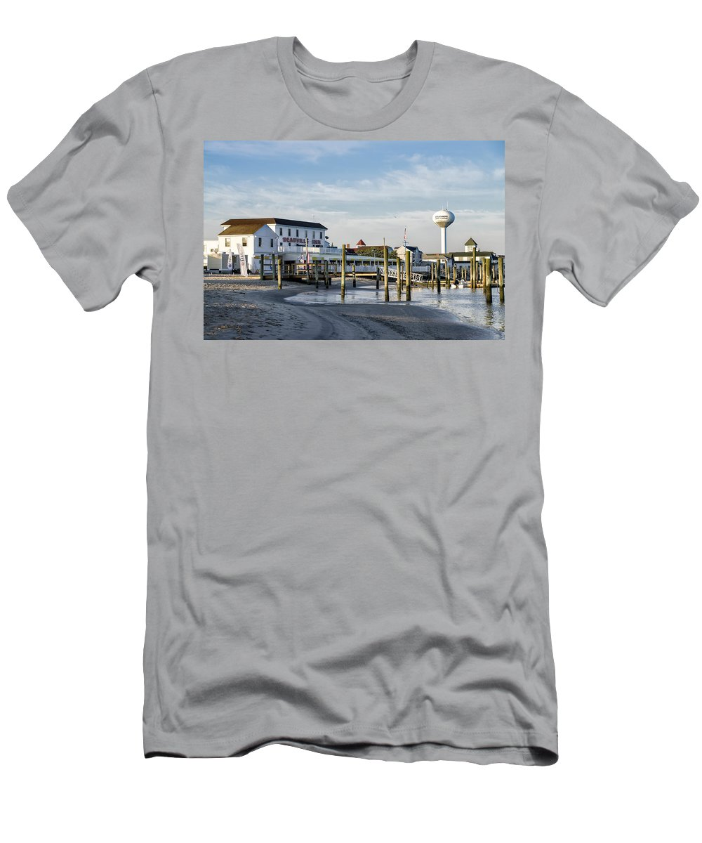 8090af89a Deauville Men's T-Shirt (Athletic Fit) featuring the photograph Deauville  Inn - Strathmere