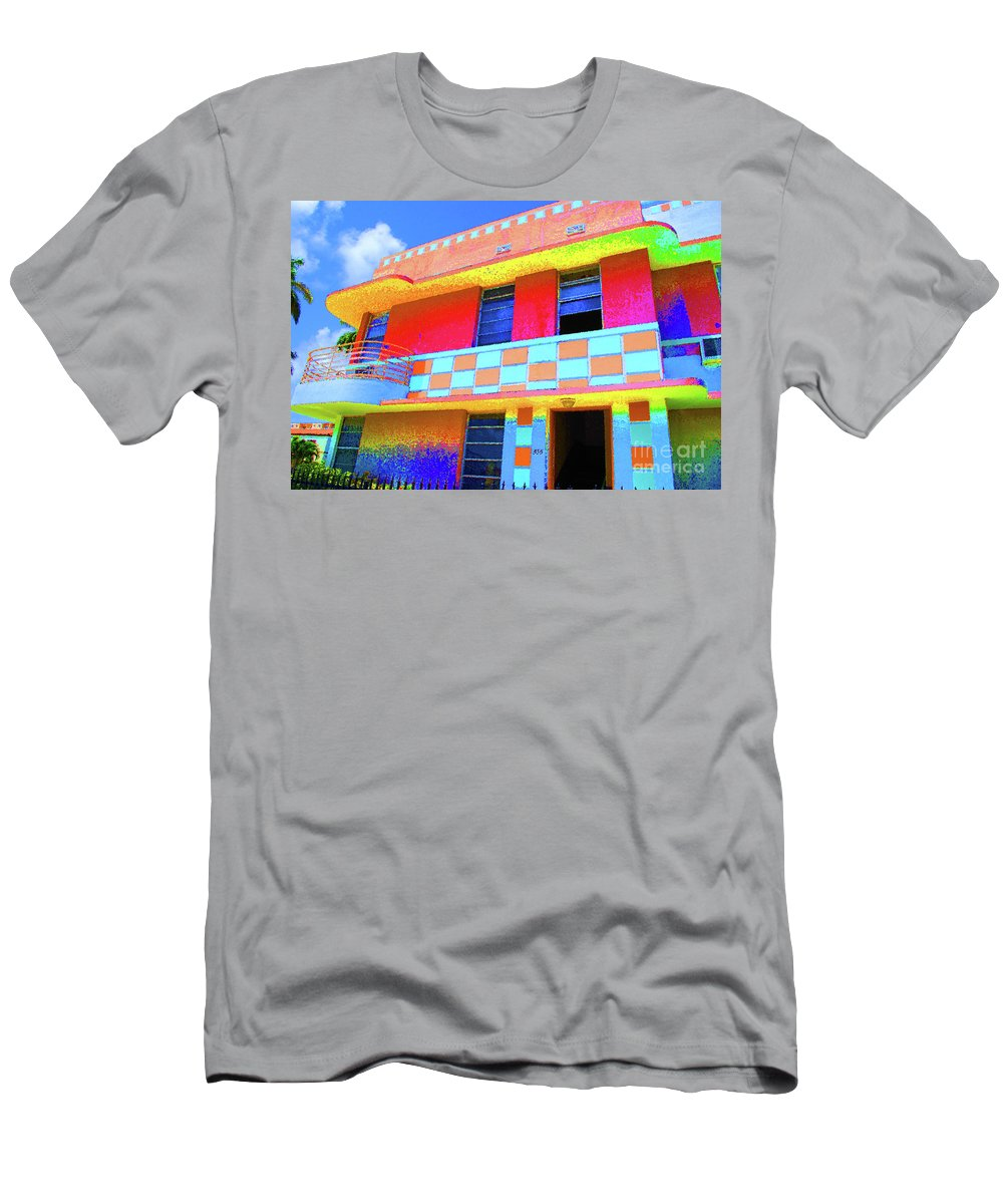 Hotel Men's T-Shirt (Athletic Fit) featuring the photograph Deco Apt by Jost Houk