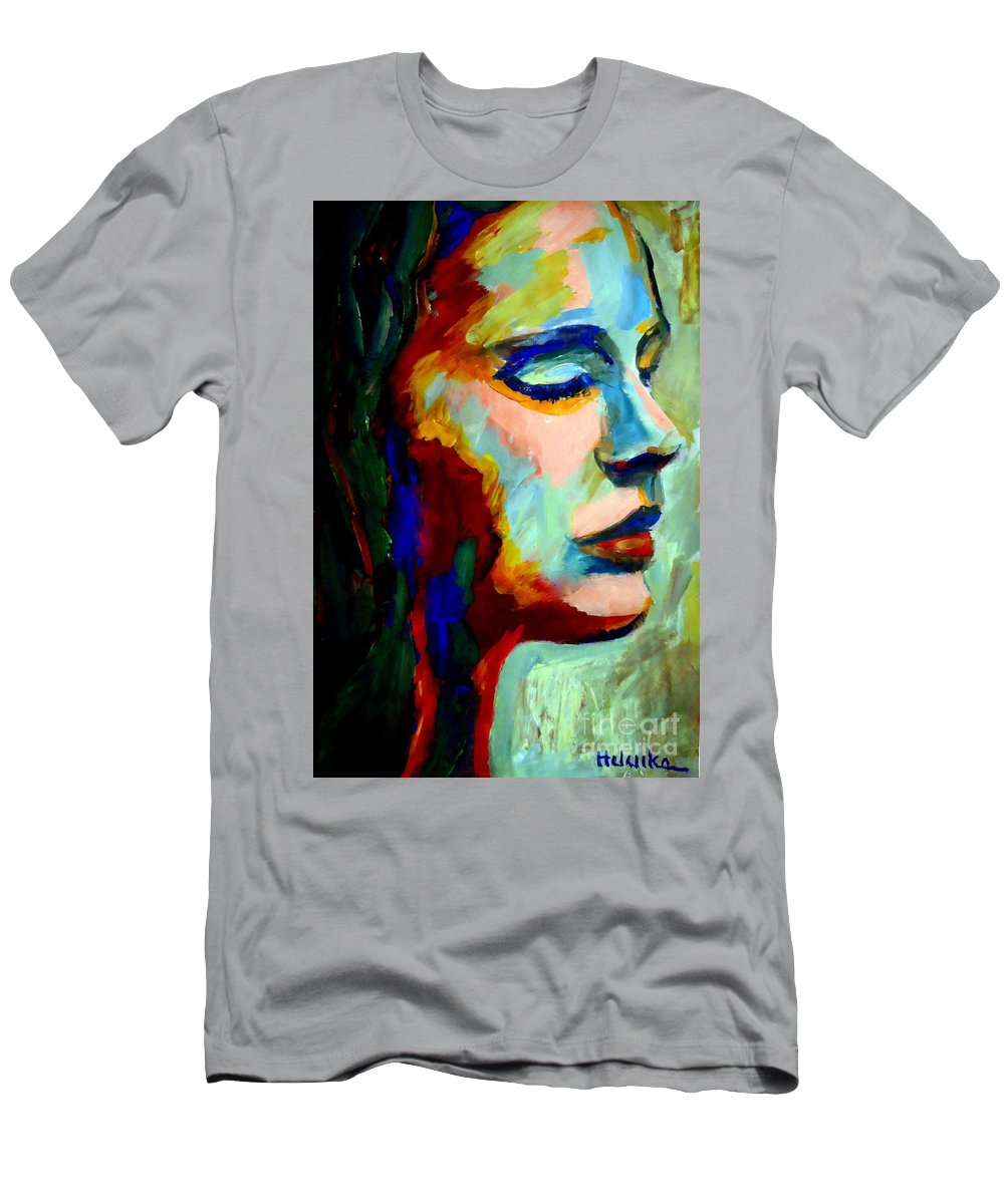 Contemporary Art Men's T-Shirt (Athletic Fit) featuring the painting Deep Silence by Helena Wierzbicki