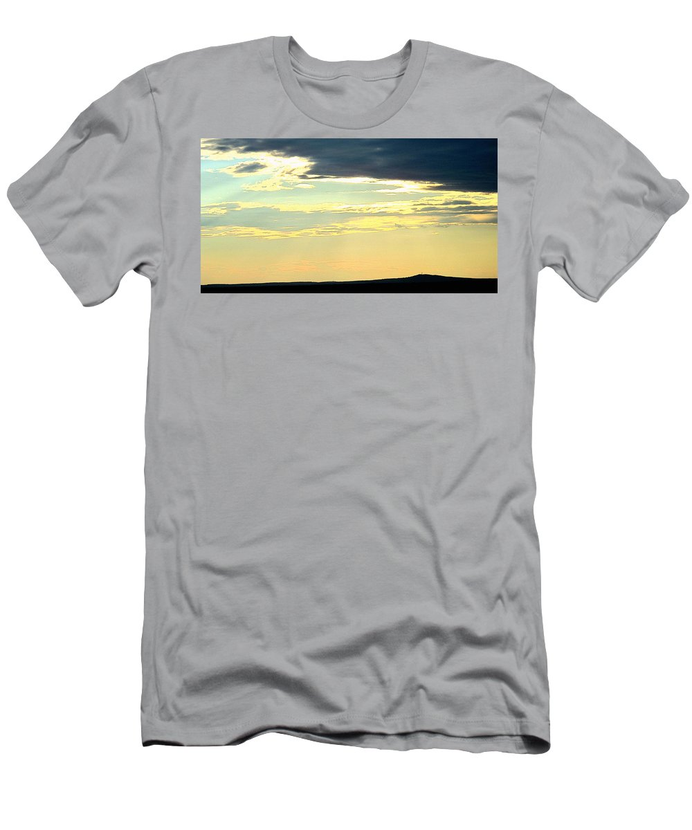 Timmins Men's T-Shirt (Athletic Fit) featuring the photograph Defined Horizon by Ian MacDonald