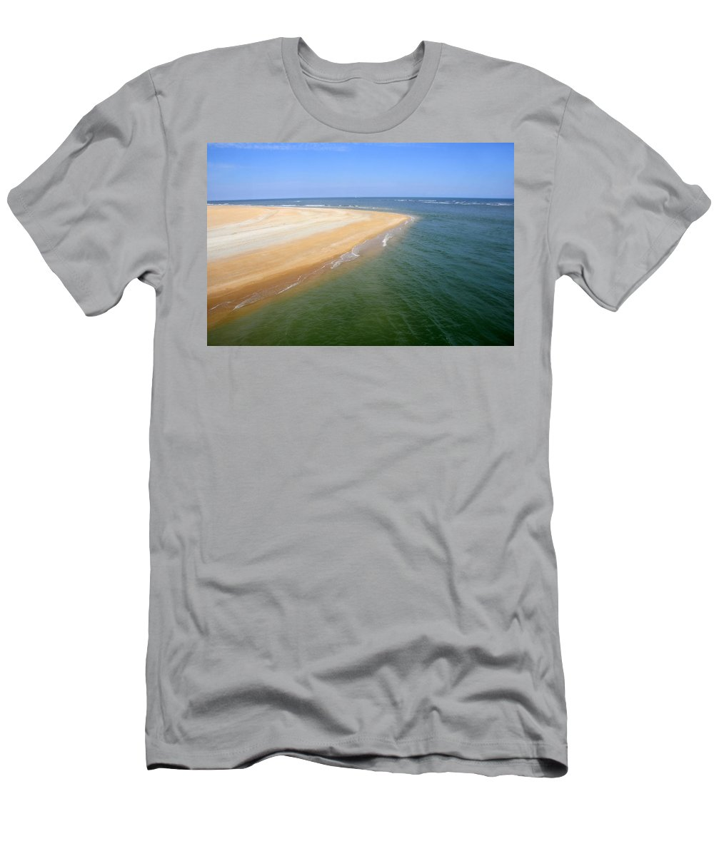Island Men's T-Shirt (Athletic Fit) featuring the photograph Desert Island by David Lee Thompson