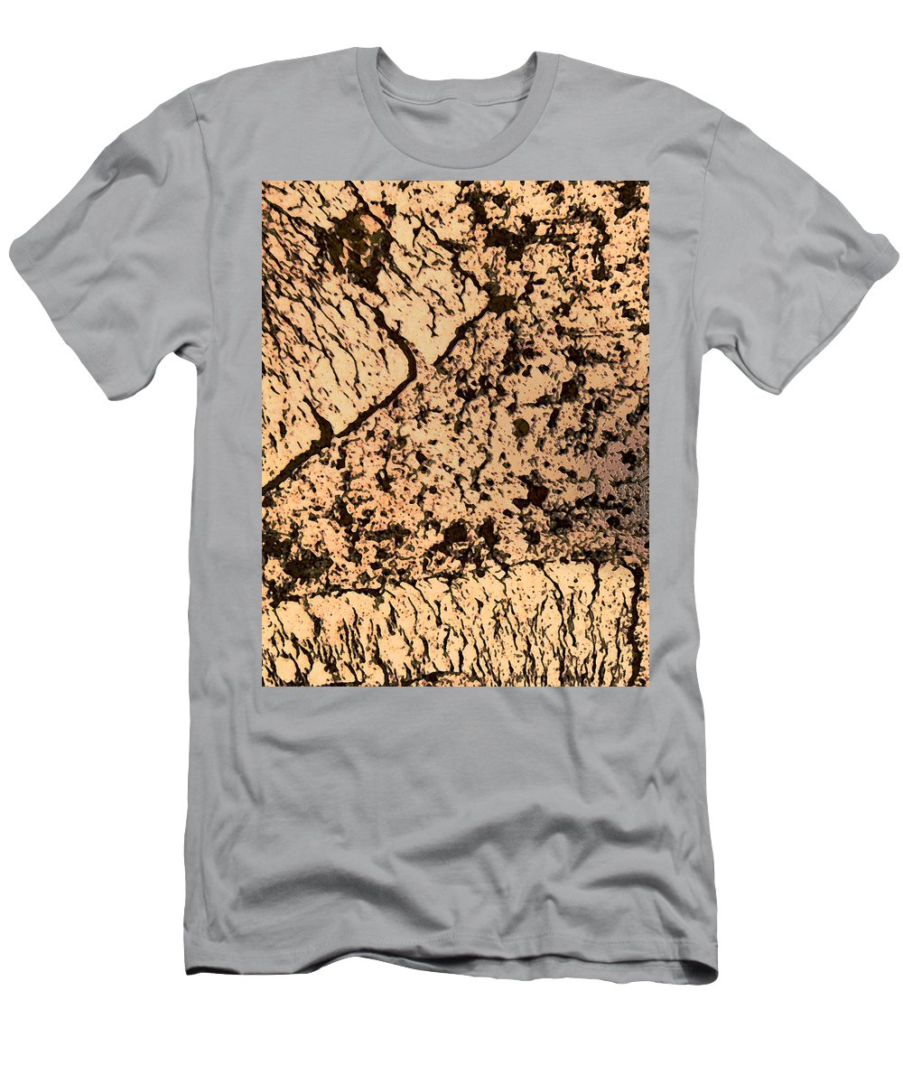 Abstract Men's T-Shirt (Athletic Fit) featuring the photograph Desert Landscape by Lenore Senior
