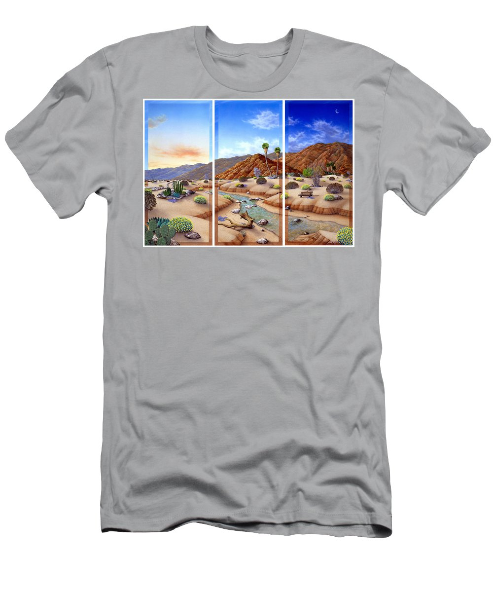 Landscape T-Shirt featuring the painting Desert Vista by Snake Jagger