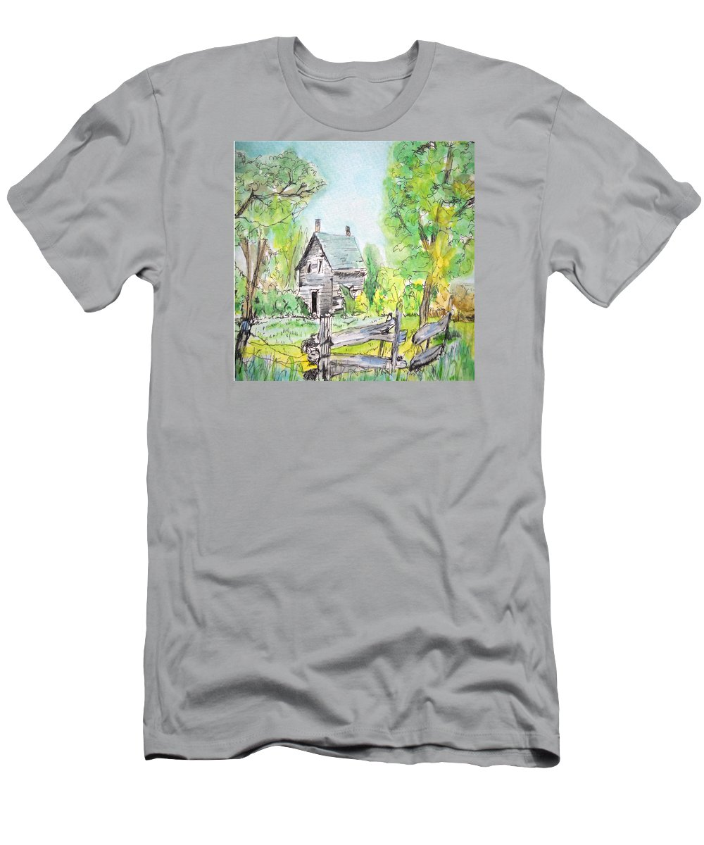 Nature T-Shirt featuring the painting Deserted Sunrise by Lisa Cini