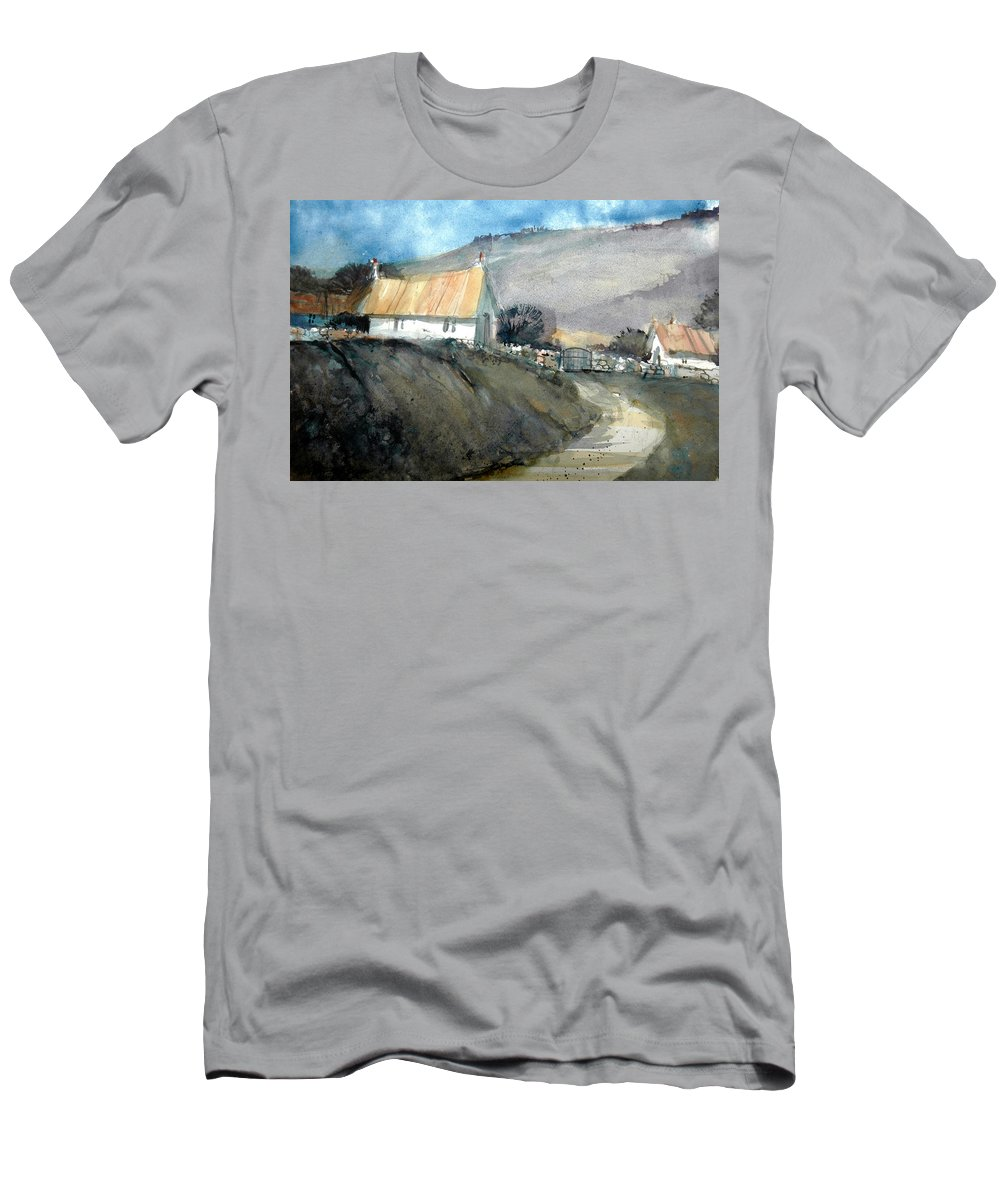Devon T-Shirt featuring the painting Devonshire Farm by Charles Rowland