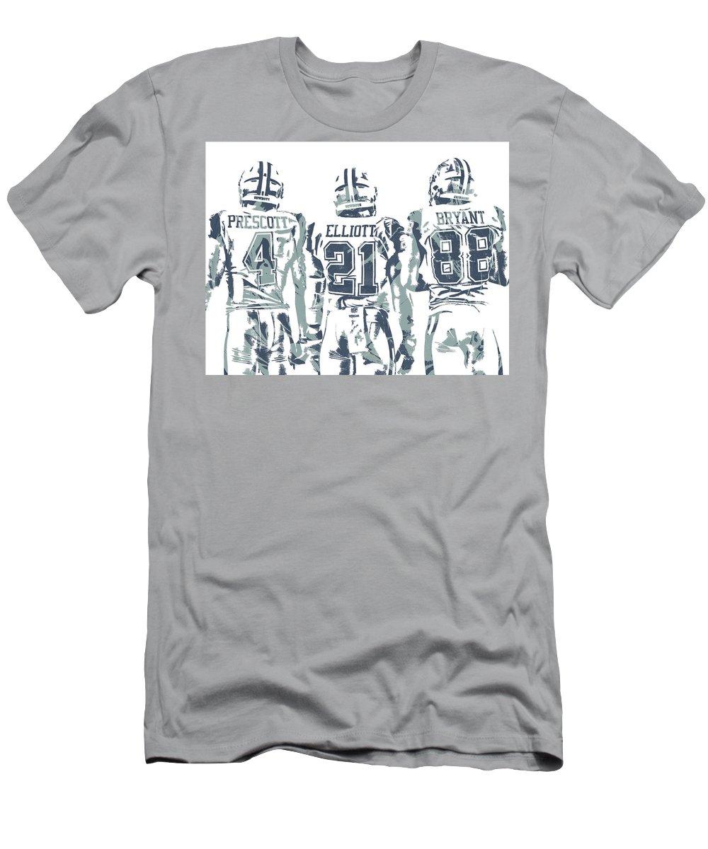 Dez Bryant Ezekiel Elliott Dak Prescott Men s T-Shirt (Athletic Fit)  featuring the 2f26d132e