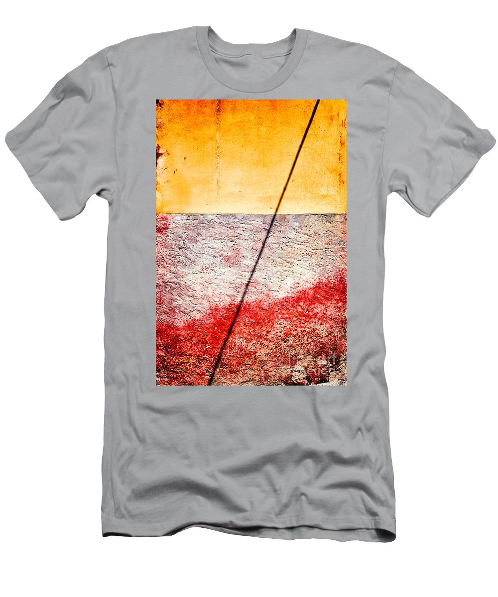 Abstract Men's T-Shirt (Athletic Fit) featuring the photograph Diagonal Shadow On Wall by Silvia Ganora