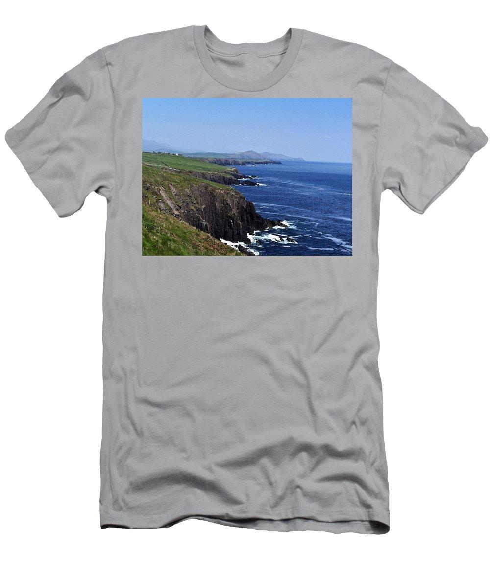 Irish T-Shirt featuring the photograph Dingle Coast Near Fahan Ireland by Teresa Mucha