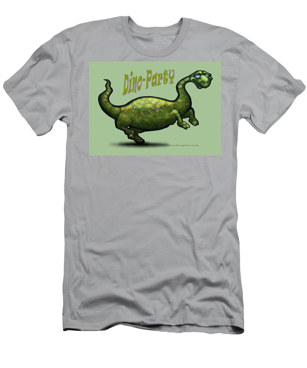 Dinosaur Men's T-Shirt (Athletic Fit) featuring the greeting card Dino Party by Kevin Middleton