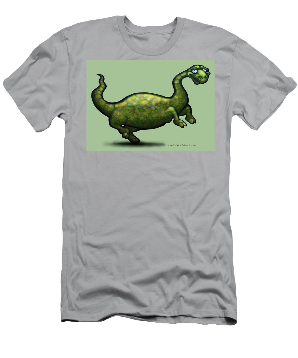 Dinosaur Men's T-Shirt (Athletic Fit) featuring the painting Dinosaur by Kevin Middleton