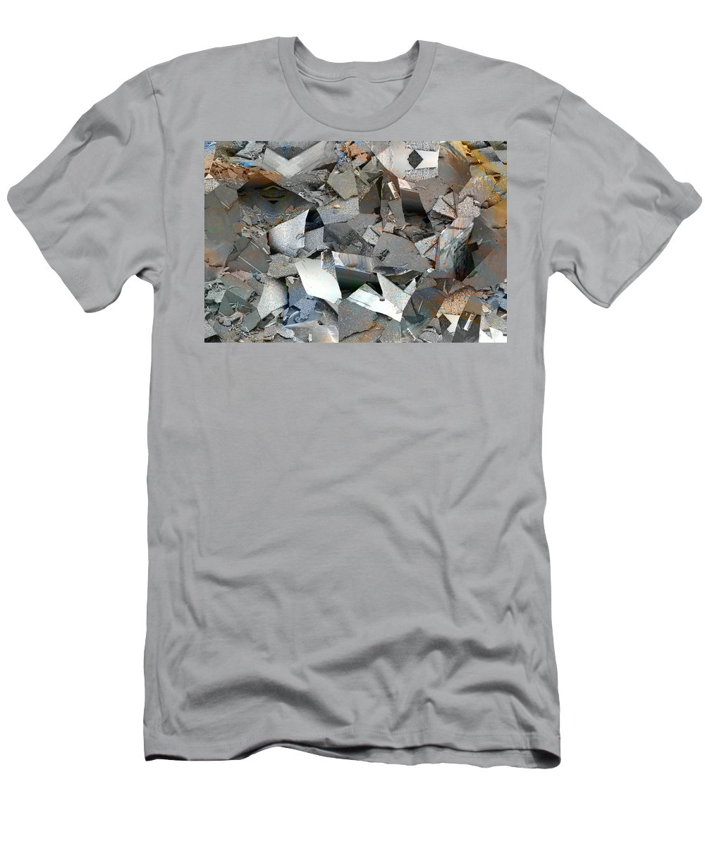 Abstract Men's T-Shirt (Athletic Fit) featuring the digital art Display Case by John Dilworth