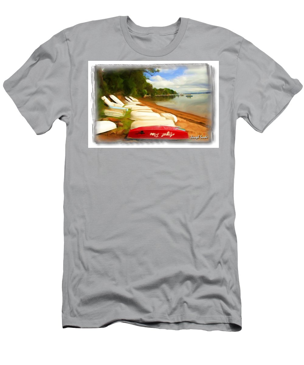 Tender Men's T-Shirt (Athletic Fit) featuring the photograph Do-00125 Tender Boats by Digital Oil