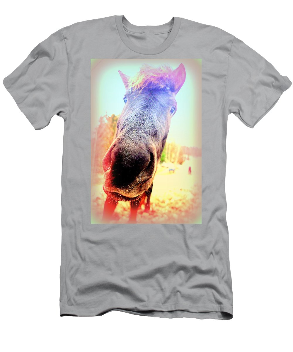 Horse Men's T-Shirt (Athletic Fit) featuring the photograph I Will Love You If You Really Love Me But Do You  by Hilde Widerberg