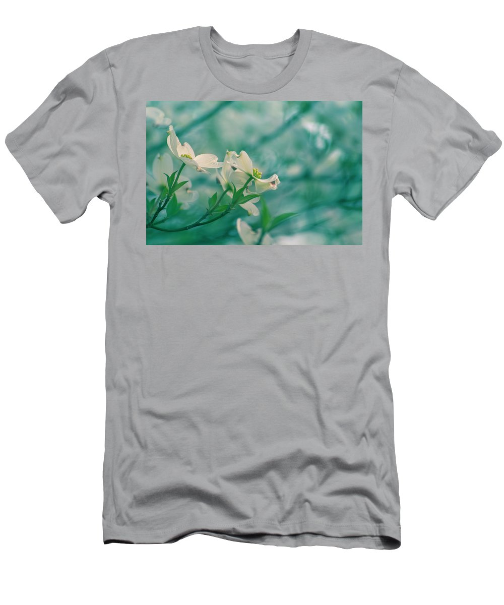 Spring Men's T-Shirt (Athletic Fit) featuring the photograph Dogwoods by Rima Biswas