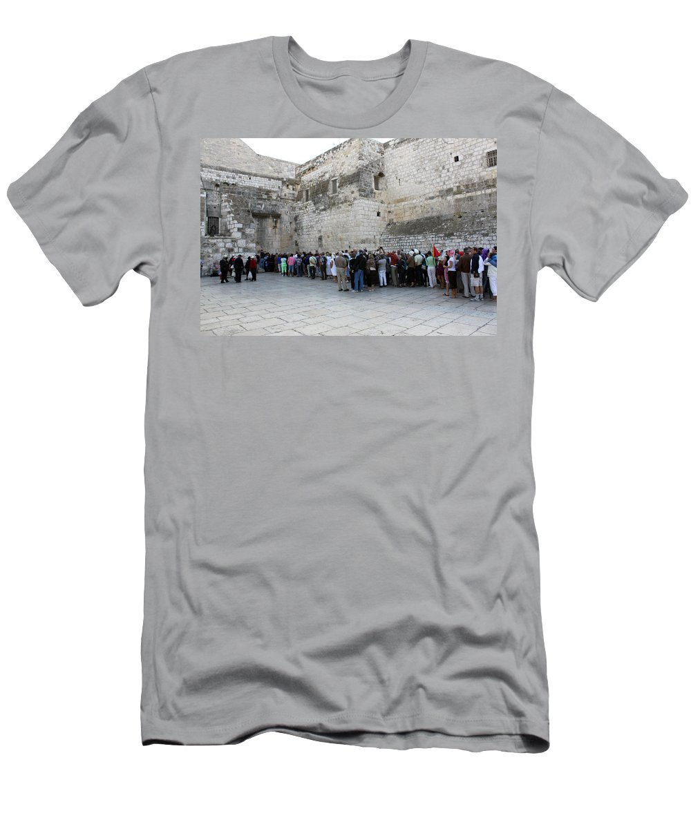 Christmas Men's T-Shirt (Athletic Fit) featuring the photograph Door Of Humility by Munir Alawi