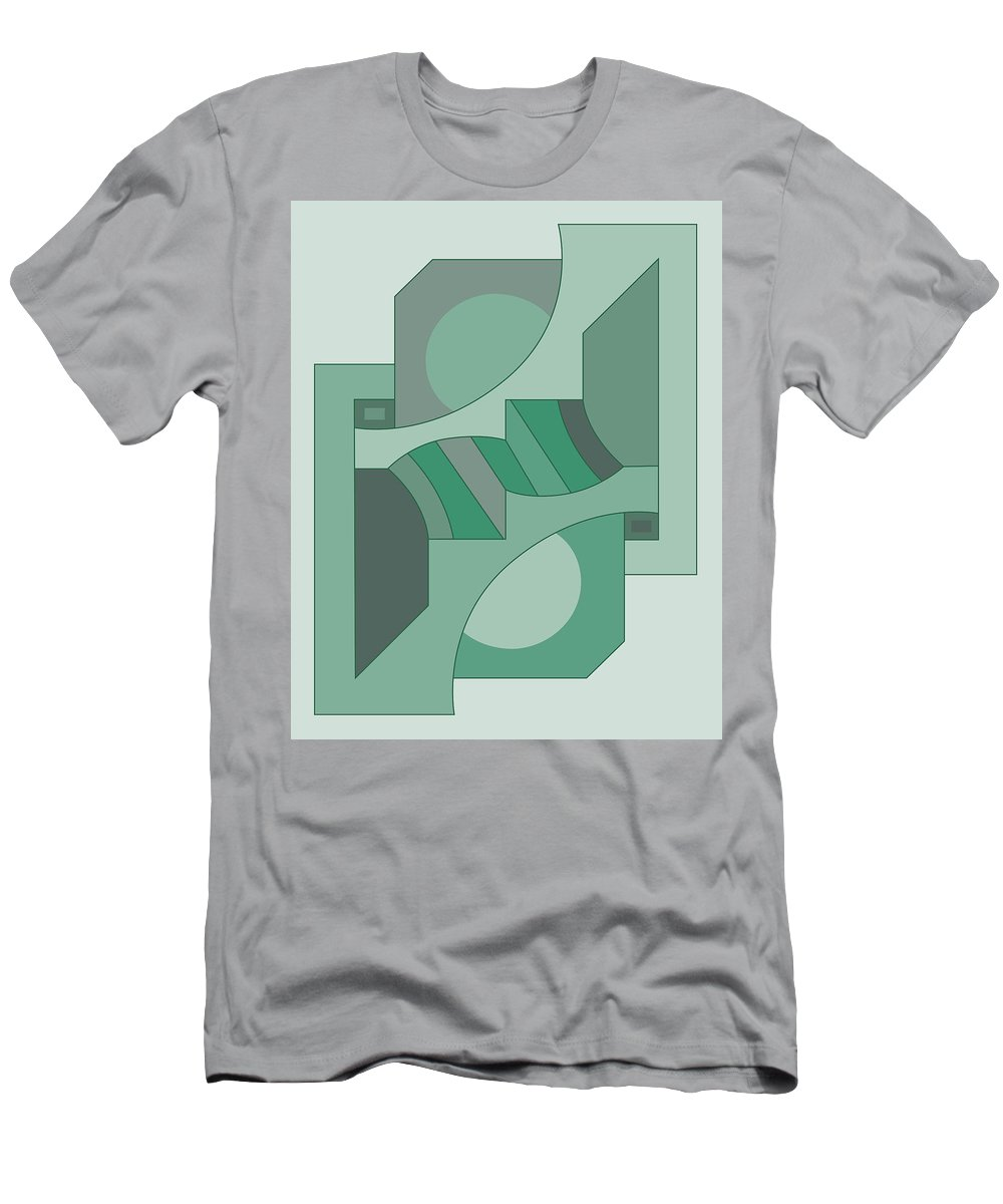 Illustration Men's T-Shirt (Athletic Fit) featuring the drawing Drawb2abstract449 by Maggie Mijares