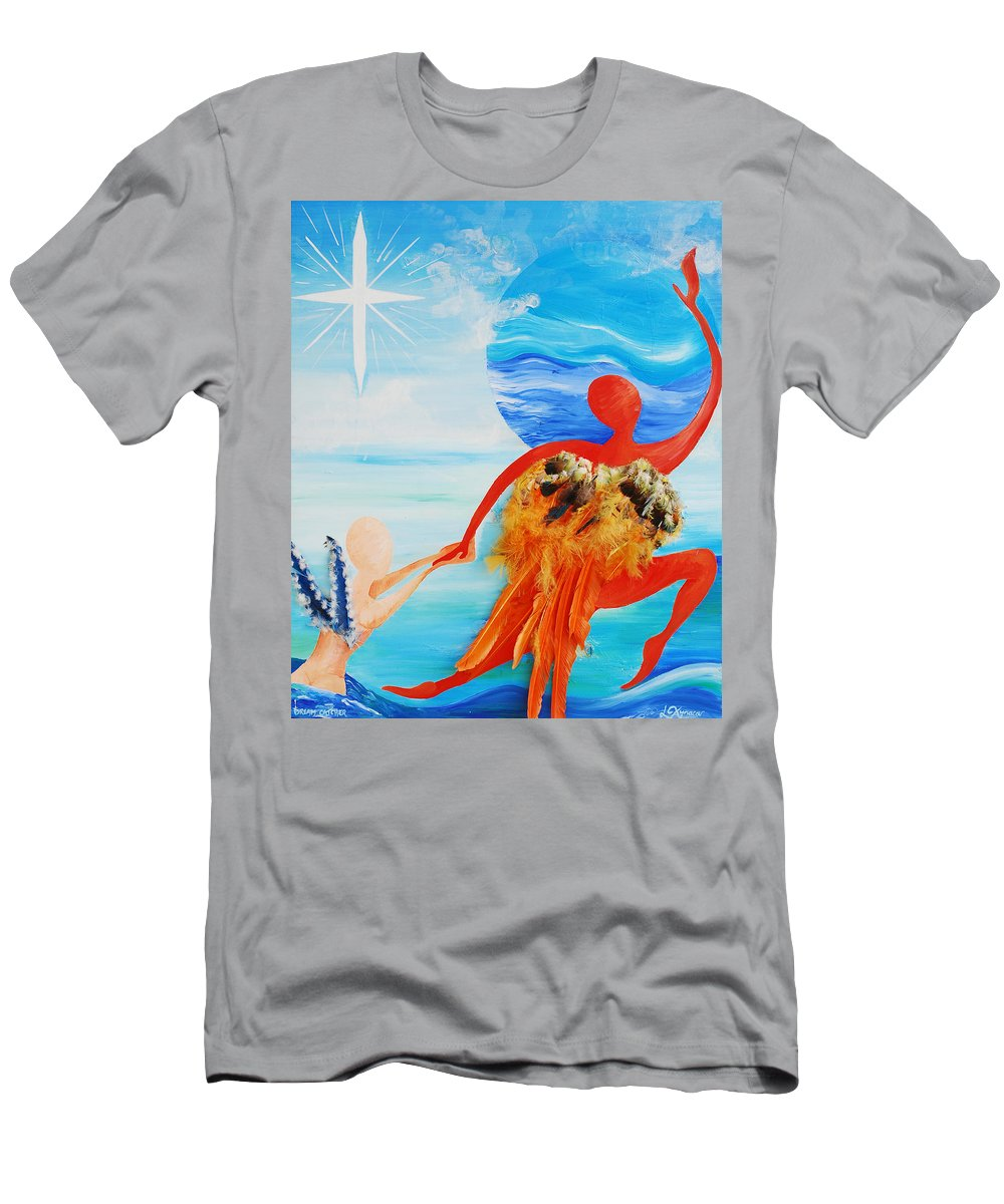 Dream Catcher Men's T-Shirt (Athletic Fit) featuring the painting Dream Catcher by Catt Kyriacou