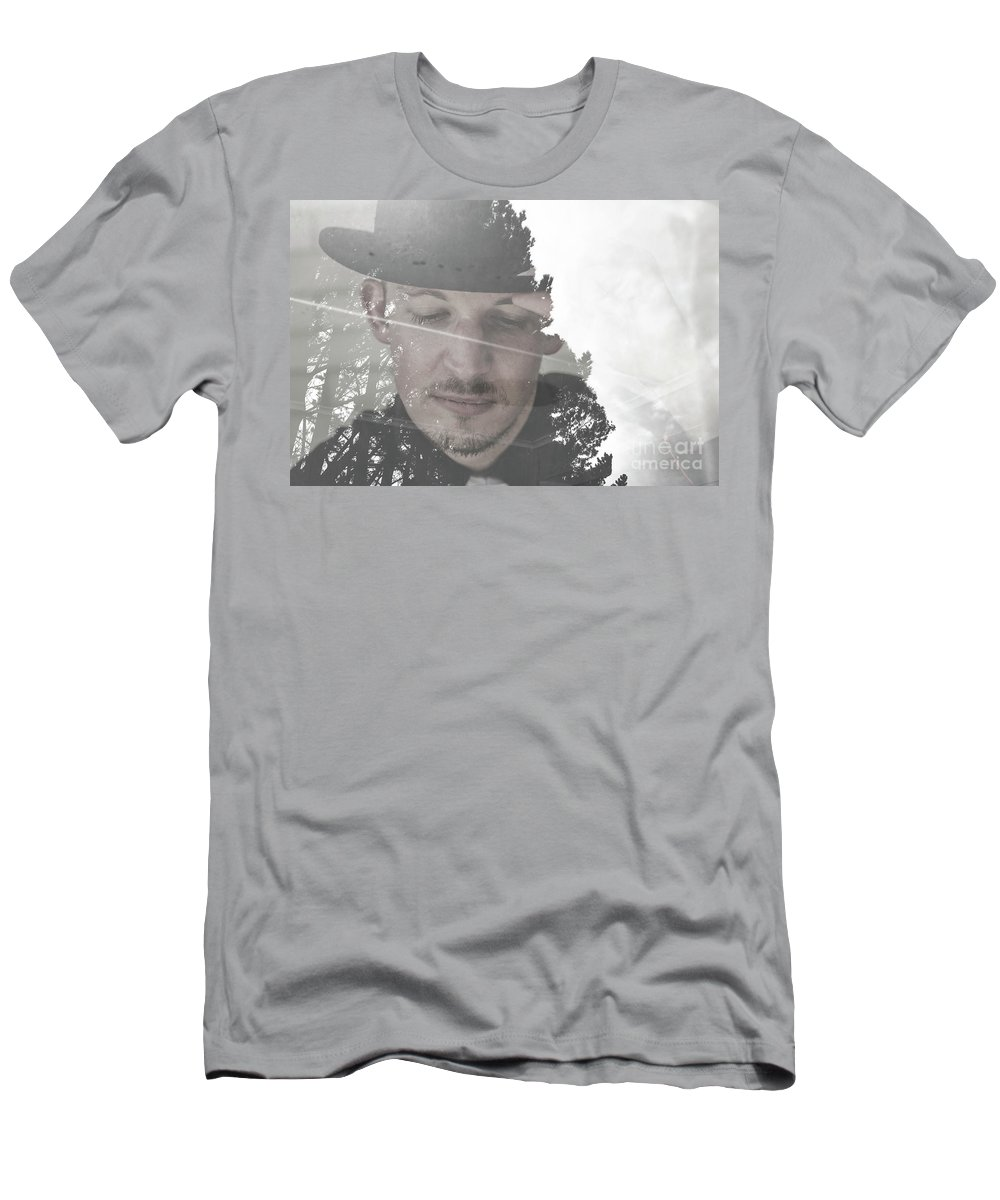 Double Exposure Men's T-Shirt (Athletic Fit) featuring the photograph Dream Time by Jorgo Photography - Wall Art Gallery