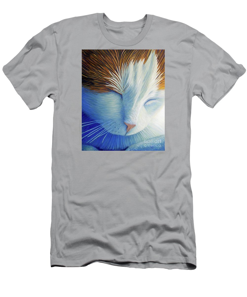 Cat Men's T-Shirt (Athletic Fit) featuring the painting Dream Within A Dream by Brian Commerford