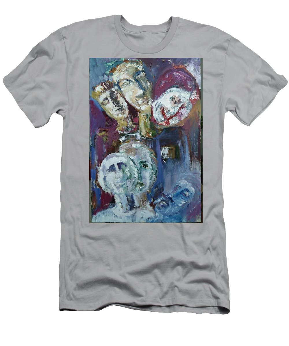 Person Look To The Future And The Past . Men's T-Shirt (Athletic Fit) featuring the painting Dreams by Firas Hashem