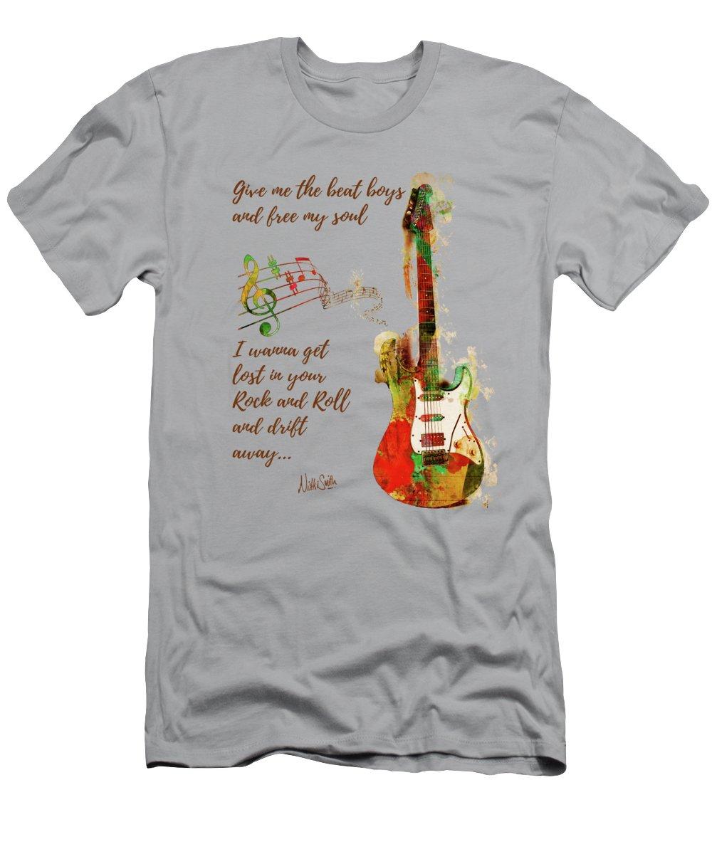 Drift Away T-Shirt featuring the digital art Drift Away by Nikki Marie Smith
