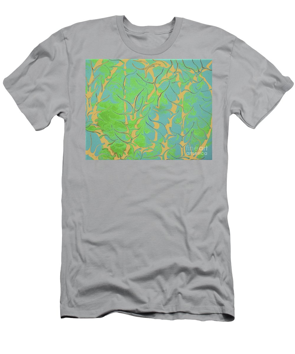 Keith Elliott Men's T-Shirt (Athletic Fit) featuring the painting Drive Naked - V1ll100 by Keith Elliott