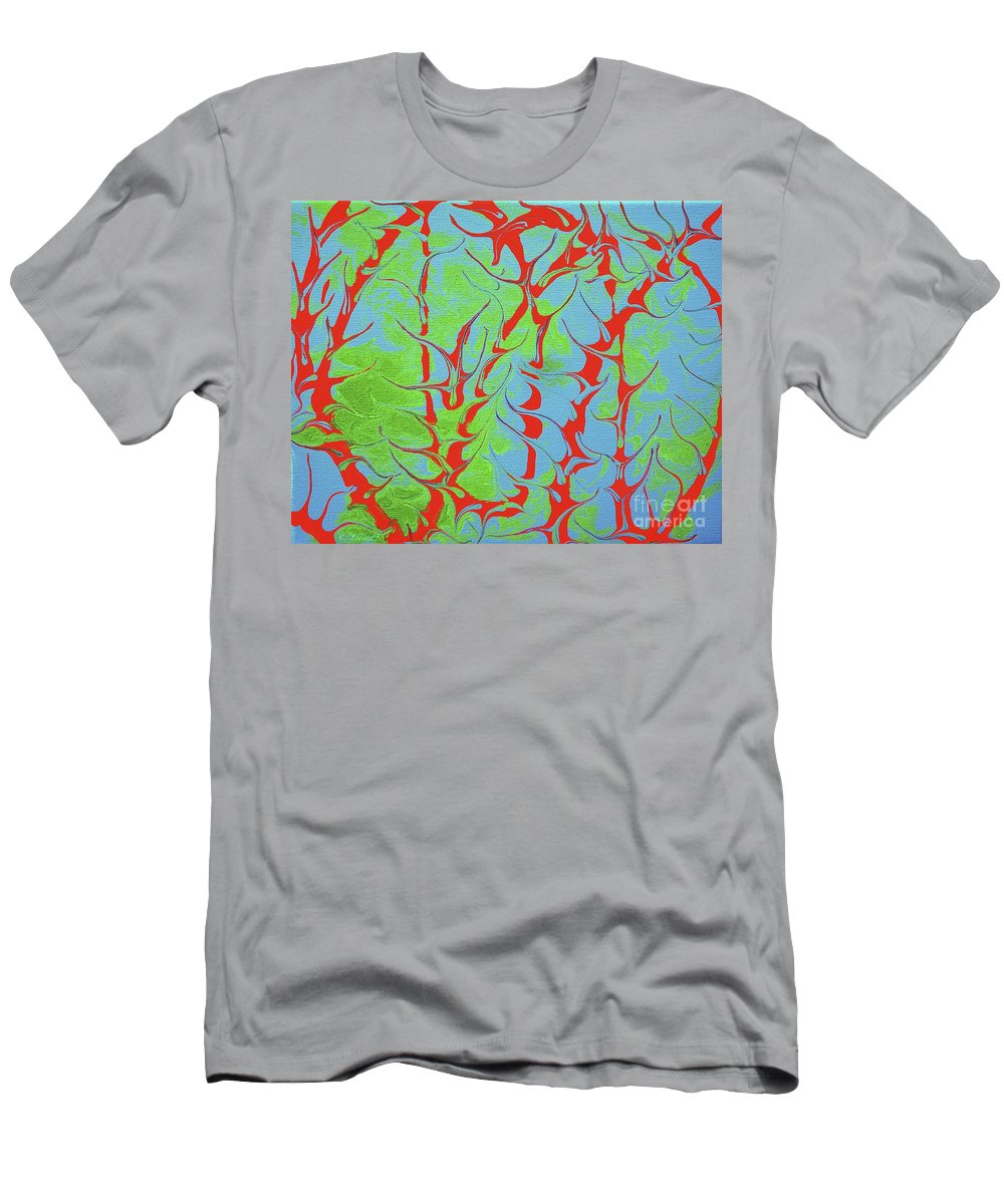 Keith Elliott Men's T-Shirt (Athletic Fit) featuring the painting Drive Naked - V1vhkf100 by Keith Elliott