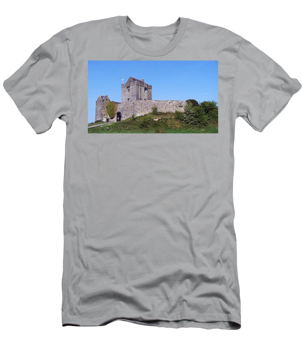 Irish Men's T-Shirt (Athletic Fit) featuring the photograph Dunguaire Castle Kinvara Ireland by Teresa Mucha