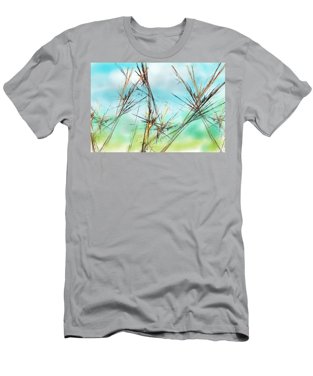 Digital Painting Men's T-Shirt (Athletic Fit) featuring the digital art Early Spring Twigs by David Lane