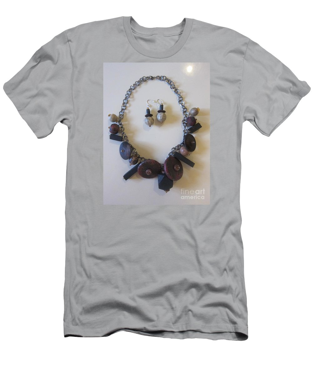 Art Men's T-Shirt (Athletic Fit) featuring the mixed media Earth 4 by Funmi Adeshina