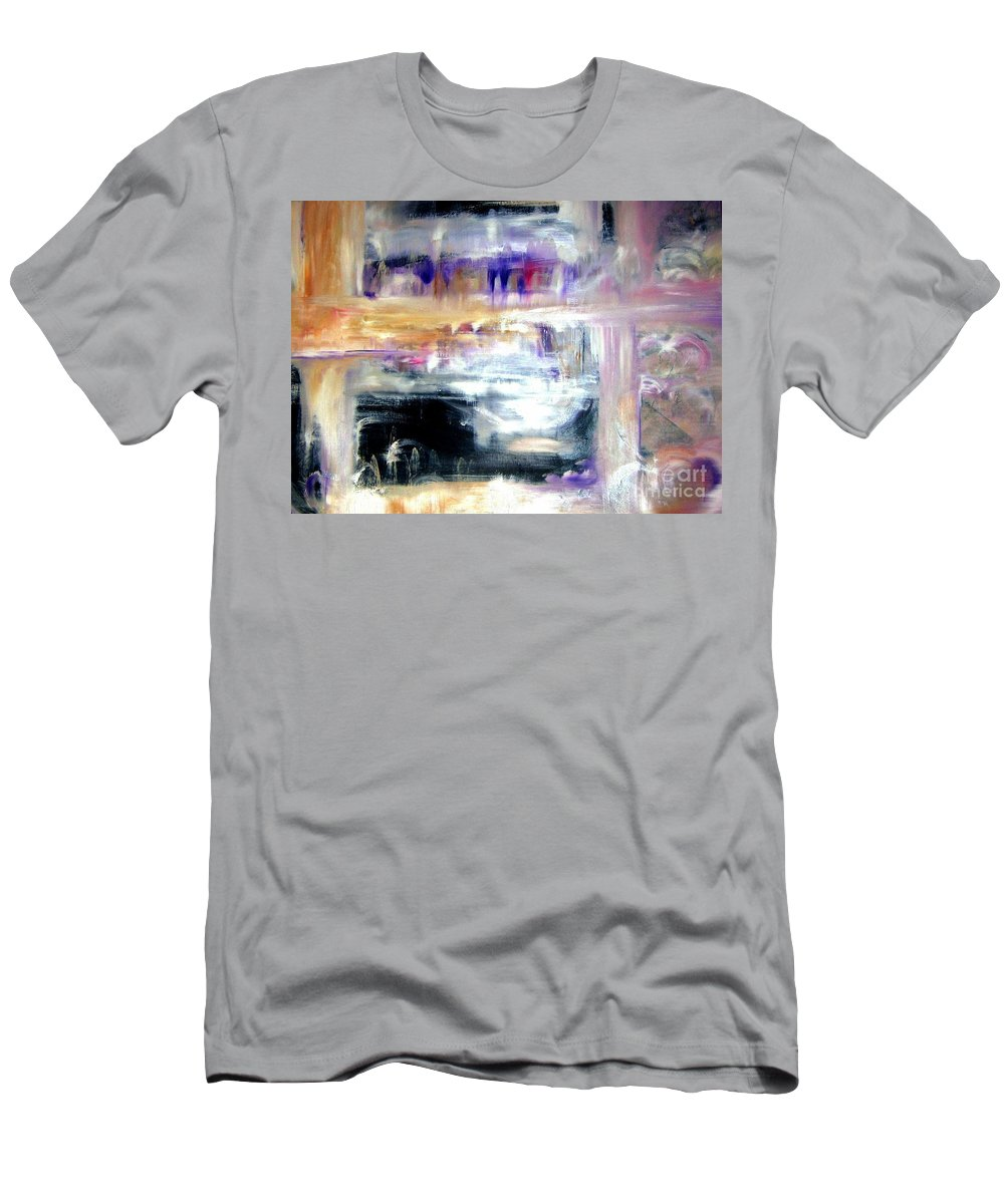 Glow Men's T-Shirt (Athletic Fit) featuring the painting Earthen Vessel by Sandy Ryan