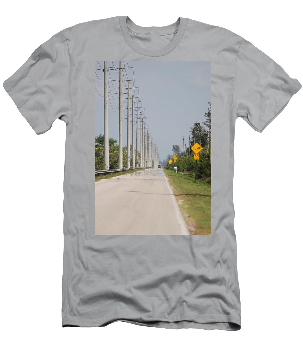 Trees Men's T-Shirt (Athletic Fit) featuring the photograph East Bound And Down by Rob Hans
