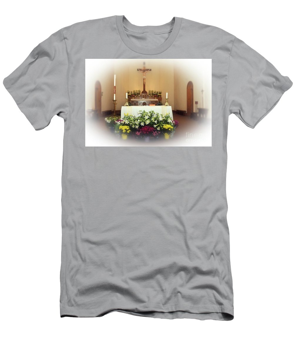 Easter Men's T-Shirt (Athletic Fit) featuring the photograph Easter Alter by Kathleen Struckle