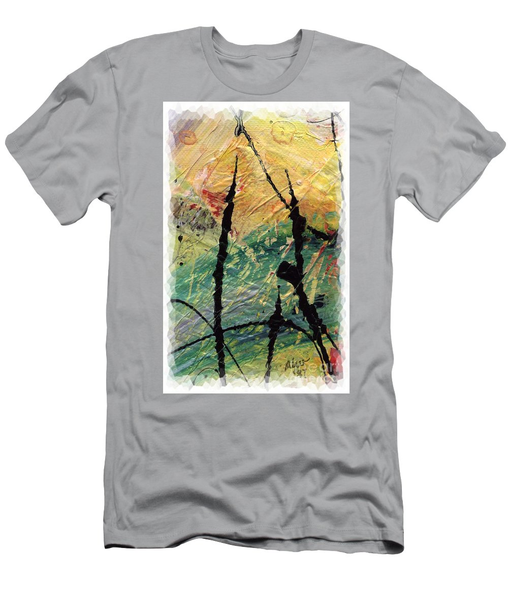 Abstract Men's T-Shirt (Athletic Fit) featuring the painting Ecstasy II by Angela L Walker