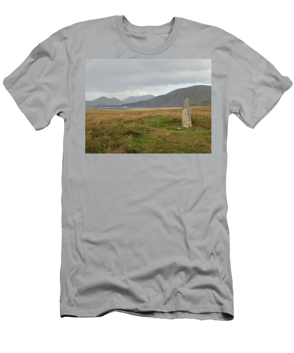 Medievil Men's T-Shirt (Athletic Fit) featuring the photograph Edge Of The World by Kelly Mezzapelle