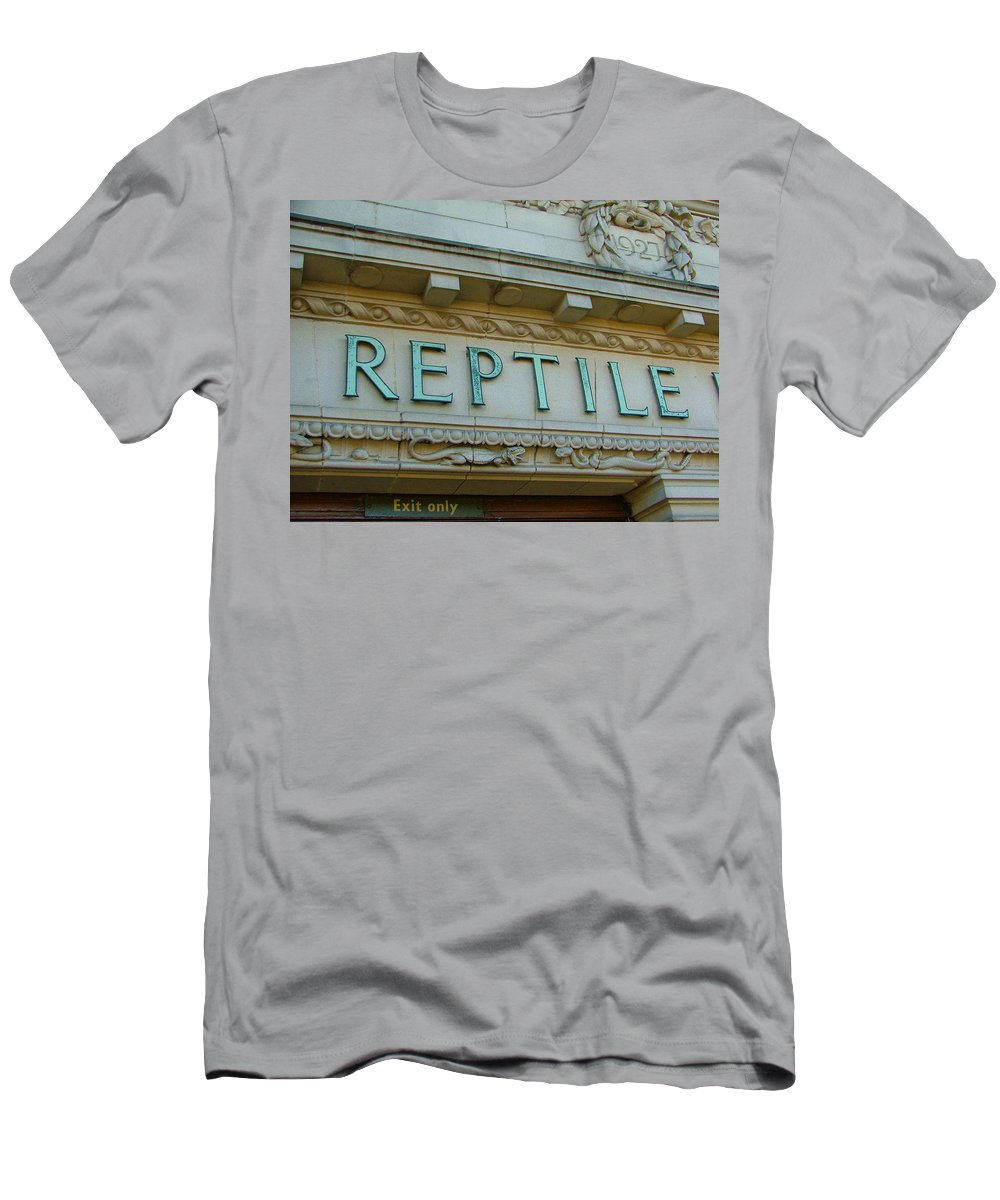 Reptile Men's T-Shirt (Athletic Fit) featuring the photograph Edwardian Reptile House by Heather Lennox
