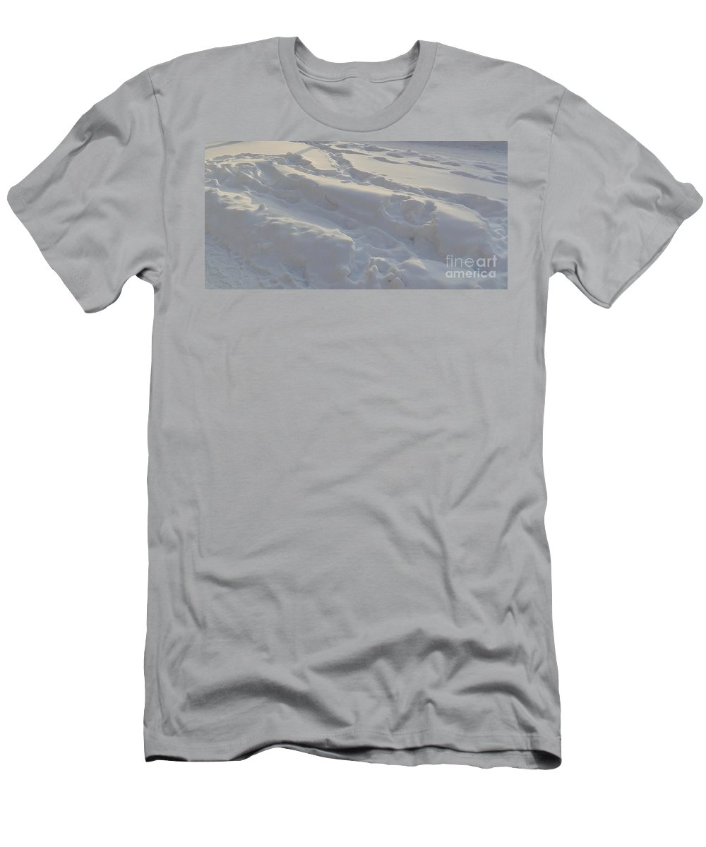 Helsinki Men's T-Shirt (Athletic Fit) featuring the photograph Eggwhite Snow by Margaret Brooks