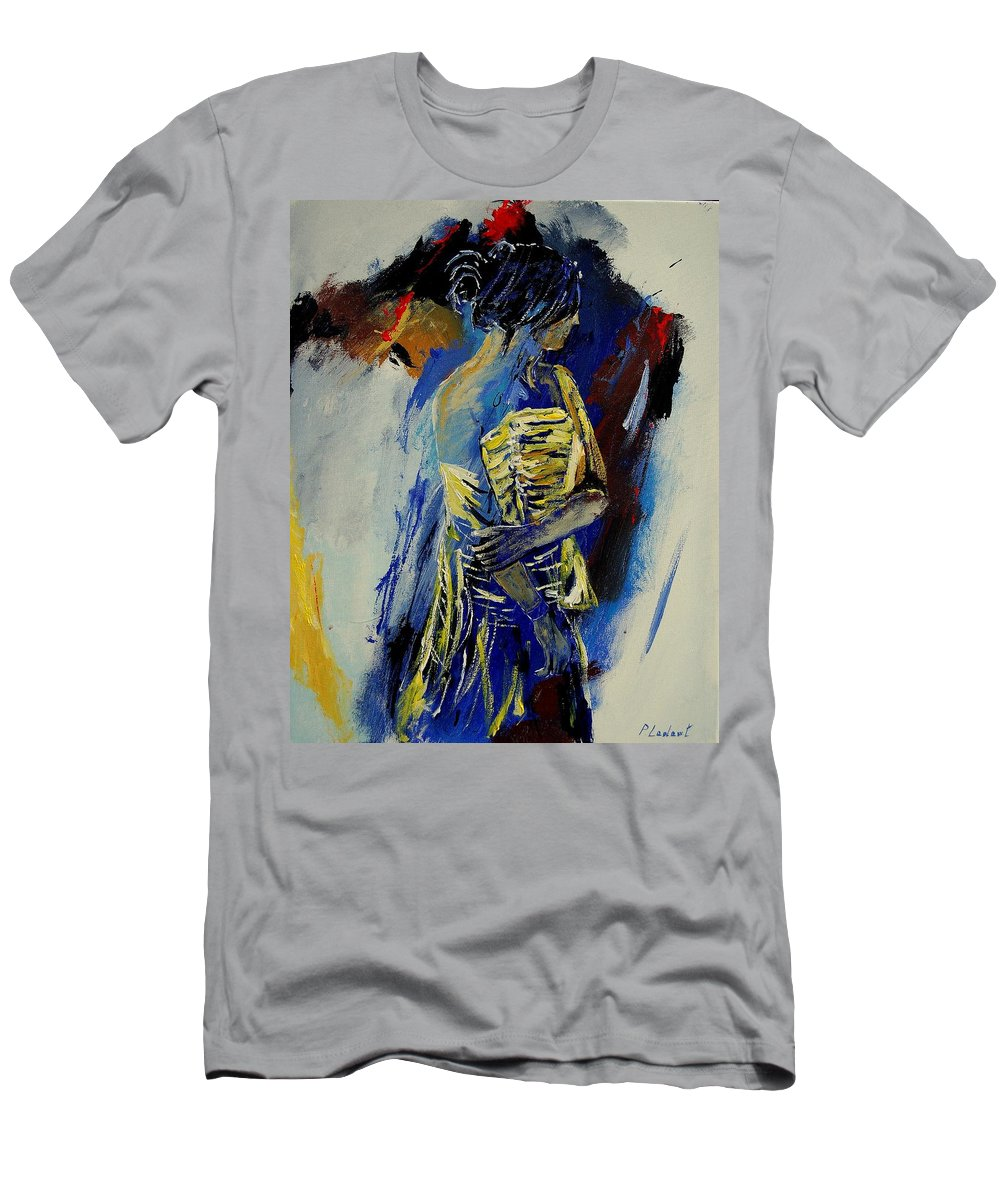 Girl Men's T-Shirt (Athletic Fit) featuring the painting Eglantine 450110 by Pol Ledent