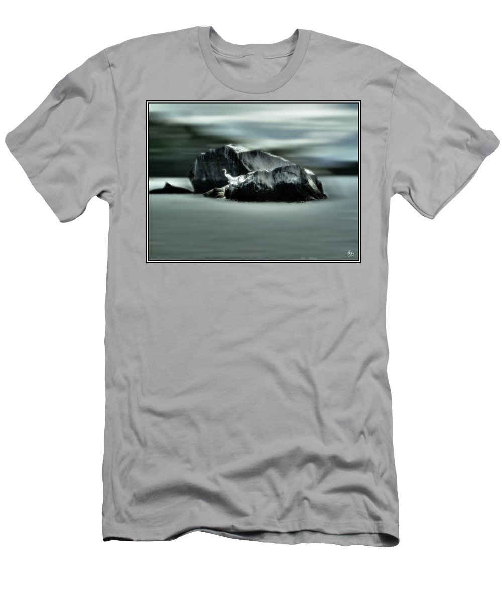 Egret Men's T-Shirt (Athletic Fit) featuring the photograph Egret Glow by Wayne King
