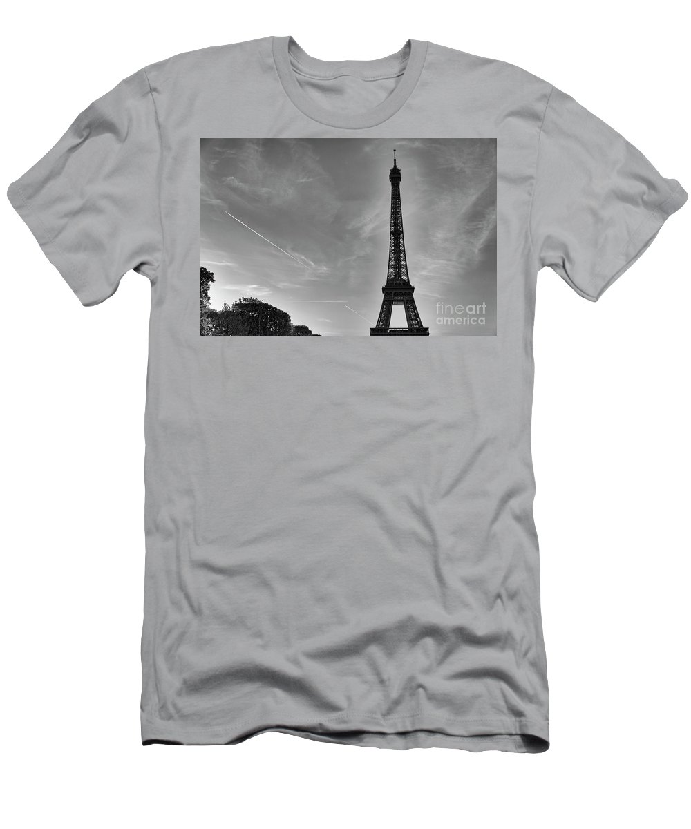 Eiffel Men's T-Shirt (Athletic Fit) featuring the photograph Eiffel Tower-4 by Milind Ketkar