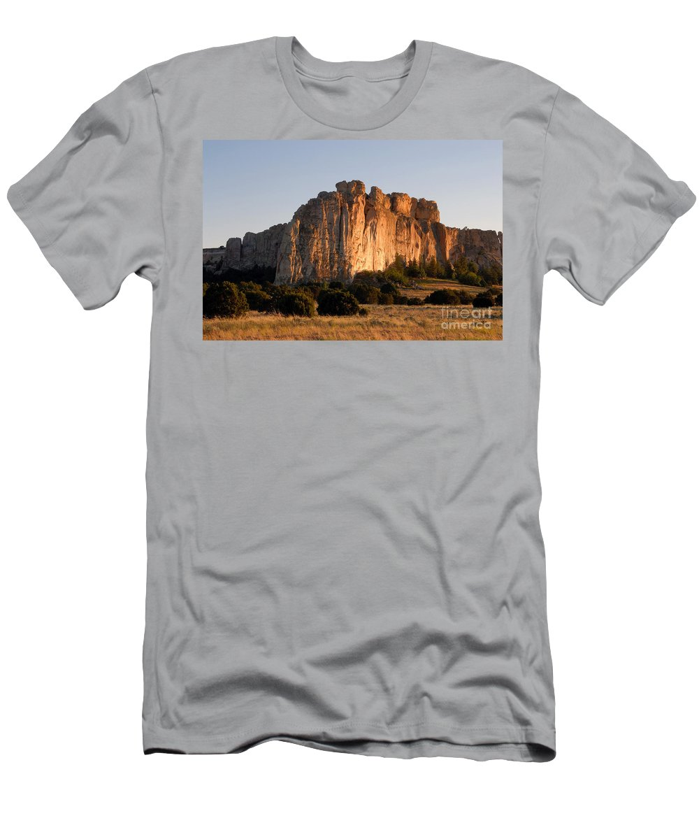 El Morro National Monument New Mexico Men's T-Shirt (Athletic Fit) featuring the photograph El Morro by David Lee Thompson