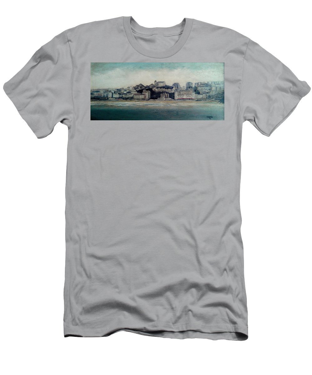 Sardinero T-Shirt featuring the painting El Sardinero-Santander by Tomas Castano