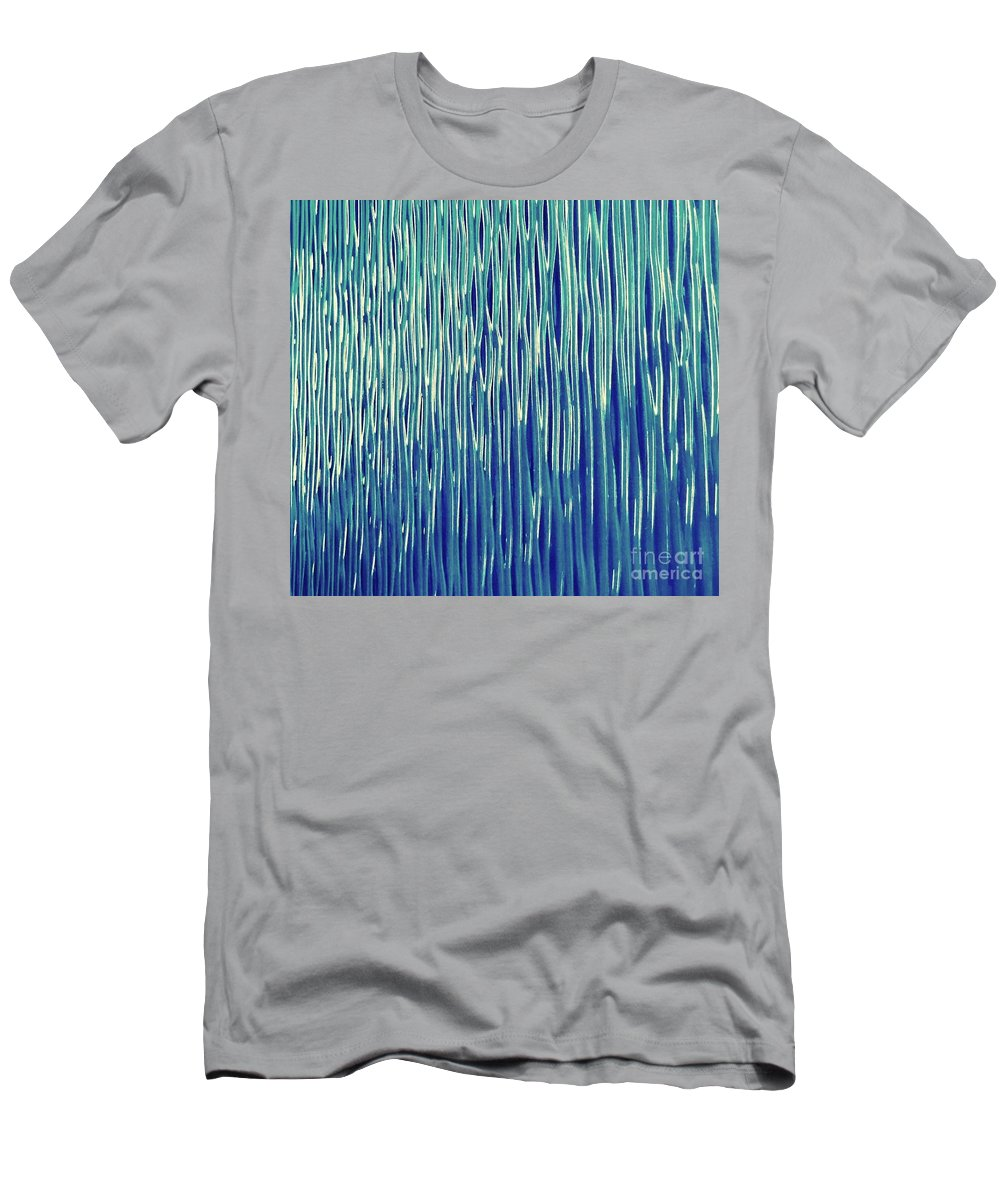 Abstract Men's T-Shirt (Athletic Fit) featuring the photograph Electric Connection by Rinat Hadad Siegel