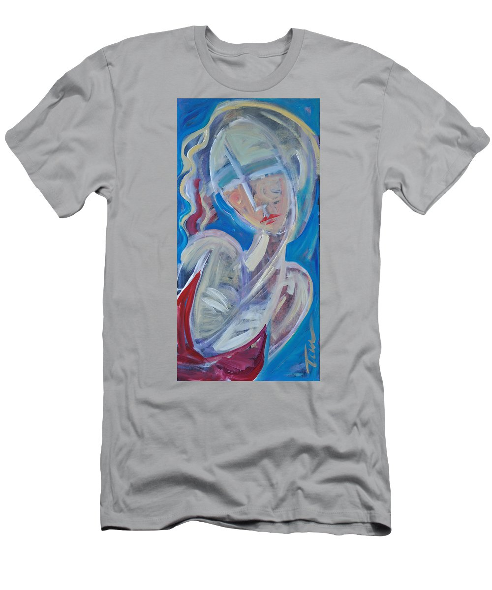 Woman Men's T-Shirt (Athletic Fit) featuring the painting Embrace Me by Tim Nyberg