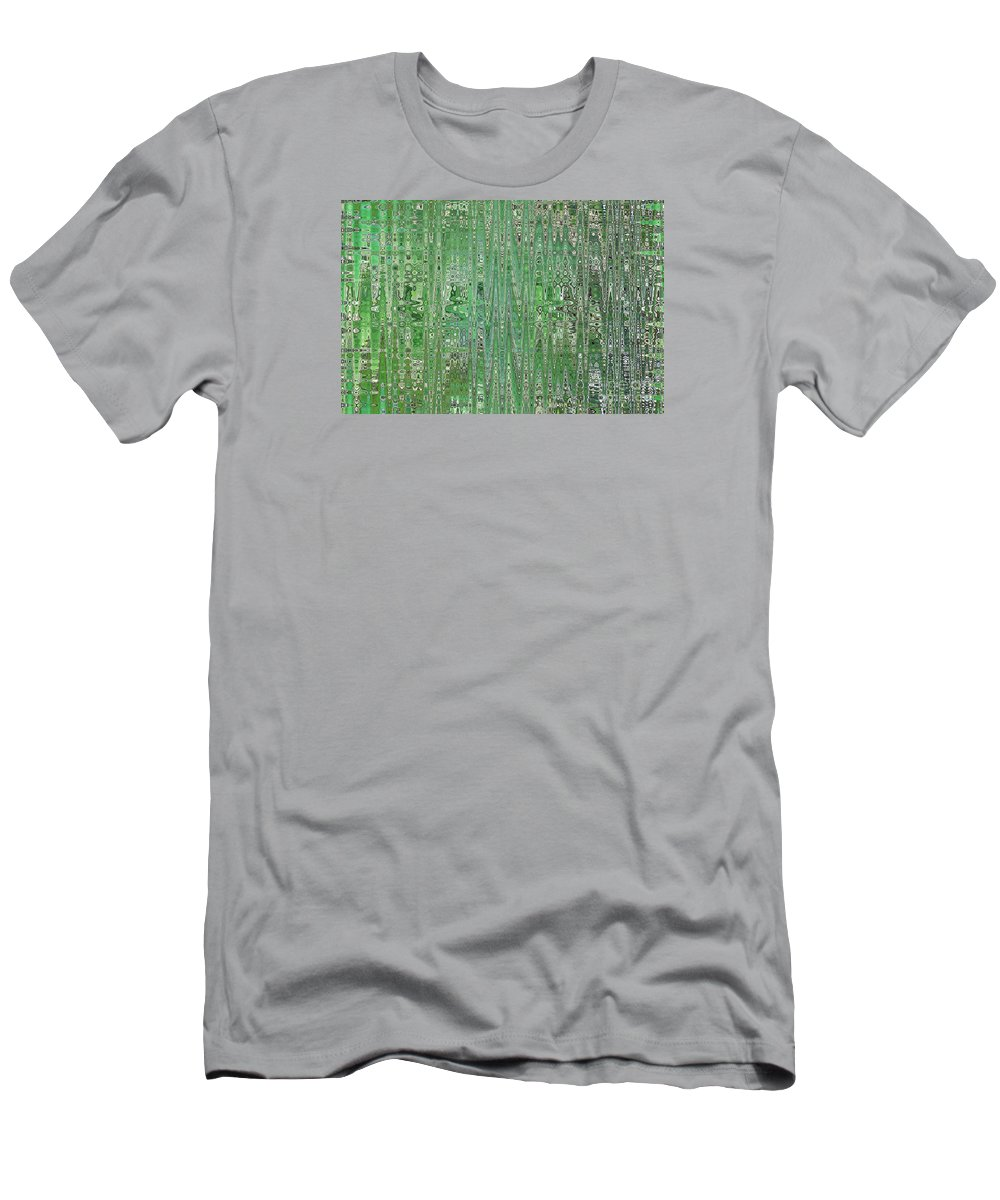 Green Abstract Men's T-Shirt (Athletic Fit) featuring the photograph Emerald Green - Abstract Art by Carol Groenen