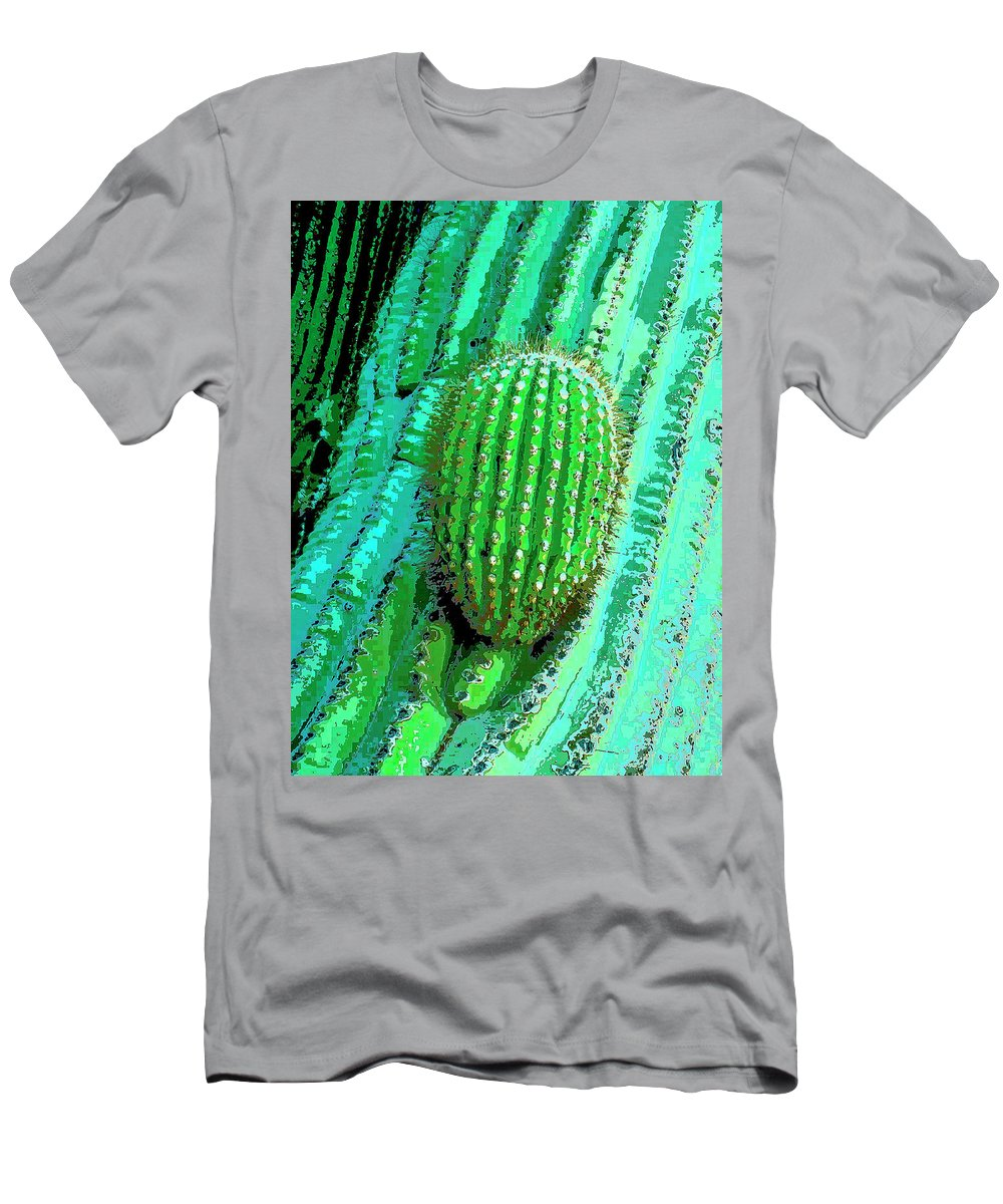 Cactus Men's T-Shirt (Athletic Fit) featuring the mixed media Emergence by Dominic Piperata